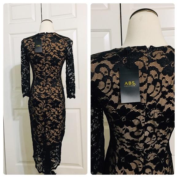 Black Lightweight stretch cotton blend knit V-neck http://ifyouloveme.net/a-b-s-by-allen